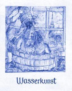 """Saunabereich: Motiv """"Wasserkunst"""""""