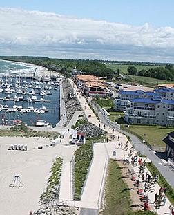 Luftansicht Strandpromenade Kühlungsborn Ost