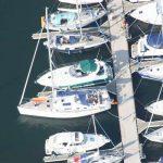 Luftansicht Segelboote im Hafen Kühlungsborn Ost