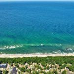 Luftansicht Strand und Ostsee Kühlungsborn West