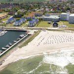 Luftansicht Strand u. Bootshafen Kühlungsborn Ost