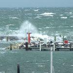 Sturm Bootshafeneinfahrt Kühlungsborn Ost