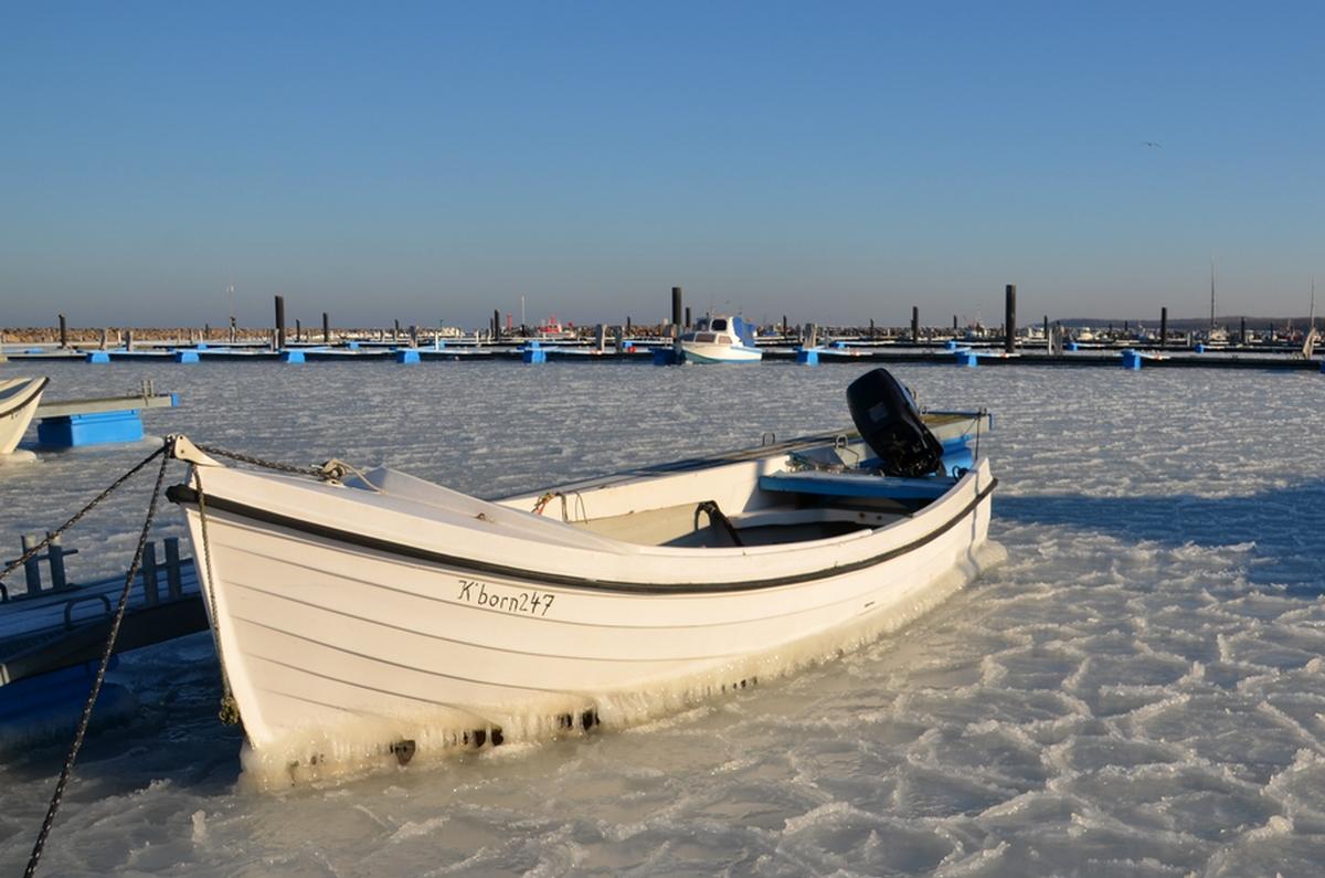 vereister Bootshafen, Kühlungsborn Ost