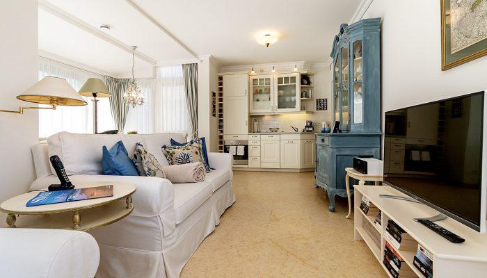 Wohnzimmer Wohung 6, Strandresidenz Kühlungsborn
