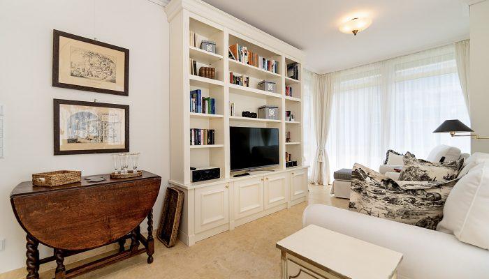 Wohnzimmer Wohnung 3, Strandresidenz Kühlungsborn