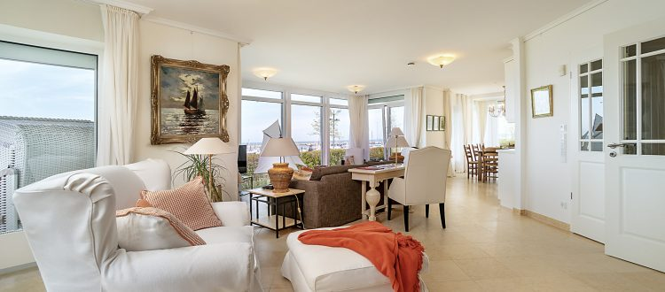 Wohnzimmer Wohnung 1, Strandresidenz Kühlungsborn