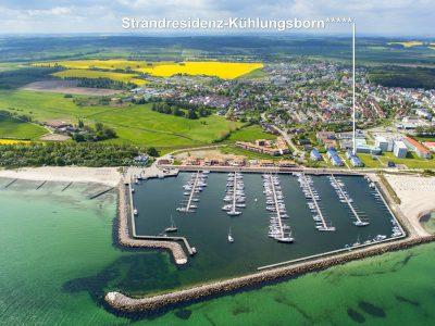 Luftpanorama Bootshafen und Strandresidenz Kühlungsborn